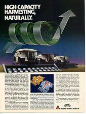 1980 Allis Chalmers AC N7 N6 N5 Gleaner Combine Farm Tractor Print Ad