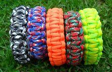 Survival Bracelet With Whistle 550 Paracord Wristband Kit UK New Climbing Hiking