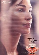 PUBLICITE ADVERTISING  2003   INES SASTRE presente  TRESOR le parfum de LANCOME