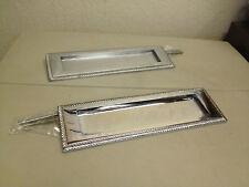 Georgian Letter Plate - Polished Chrome - Brushed Chrome - Rare - CHEAP
