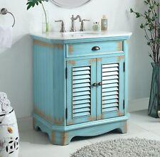 32� Benton Collection Fairfield Rustic Blue Bathroom Sink Vanity 47884Bu