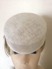 Ladies Sinamay Small Pill Box Shape Summer Hat Base/ Races / Weddings/ Ascot