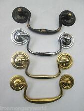 CABINET CUPBOARD DRAWER DESK  DRESSER DROP BAR SWAN NECK PULL SWING HANDLE