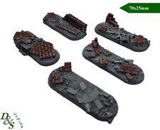 25mm x 70mm Oval Bike Urban/Rubble #2 Resin Bases Warhammer 40K Space Marine