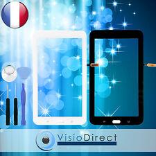"Vitre ecran tactile pour Samsung Galaxy Tab 3 Lite 7.0"" T110 blanc ou noir+outil"