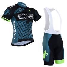 Mens Cycling Uniform Kits Short Sleeve Jersey Shirt Bib Shorts Set 2018 New Cool