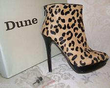 PVP £ 155 Dune Tamaño 3 36 Leopard Print Pony Piel Pelo Jump Botines Zapatos Bolso??