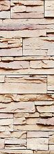 Sticker décoration de porte trompe l'oeil mur de pierre réf 578 (4 dimensions)