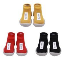Rubber Bottom Non-Slip Toddler Shoes Warm Knit Ankle Length Baby Prewalker  WF