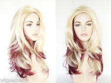 Vanity Gentle Layered Waves Long Straight Fun Colors Costume Wigs