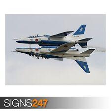 KAWASAKI T-4 AEROBATIC GROUP (AA065) AIRCRAFT POSTER - Poster Print Art A1 A2 A3