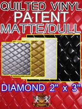 Quilted Vinyl Patent MATTE/DULL Diamond 2