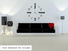 Modern Clock Background Sticker. Vinyl Wall Stickers High Quality 45cm x 45cm UK