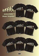 Fun Collection T-Shirt Evolution Homo Stupidus Shirt Geschenk Auswahl bedruckt