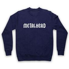 METALHEAD HEAVY METAL SLOGAN ROCK MUSIC HARDCORE ROCKER ADULTS KIDS SWEATSHIRT