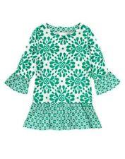 NWT Gymboree Clover Ruffle Tunic Blouse Top The Green Scene Girls 4 5 6