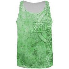 St. Patricks Day Dirty Irish Celtic Cross All Over Mens Tank Top