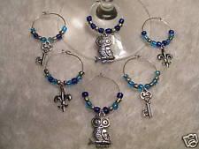 Kappa Kappa Gamma WINE CHARMS! Owls Keys Fleur-de-lis