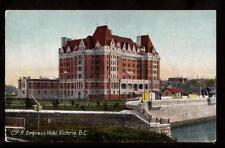 early c.p.r. empress hotel victoria b.c.canada postcard