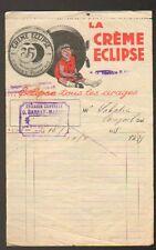 """ISSOIRE (63) EPICERIE """"BARRAT-MARREL"""" Publicité CIRAGE CREME ECLIPSE en 1938"""