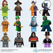 LEGO BATMAN Muro Decalcomania Sticker Bambini Camera Da Letto Vinile DC