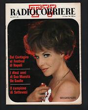 RADIOCORRIERE 28/68 SAVINI LIANA ORFEI CANTAGIRO LAJOS KOZMA FESTIVAL NAPOLI