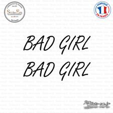 2 Stickers JDM Bad Girl Decal Aufkleber Pegatinas D-051 Couleurs au choix