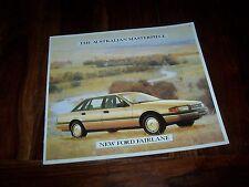 Catalogue / Australian Brochure / Prospekt  FORD Fairlane 1988 //