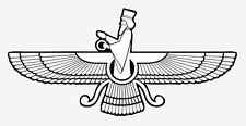 Faravahar Zoroastrianism white sticker vinyl decal