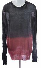 Ann Demeulemeester Men's Knit Kashcot Sweater Phantom Deep Dye, XXS