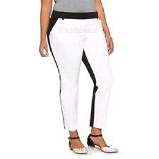 AVA /& VIV Plus Pants 24W 24 Ankle Stretch Check Purple Women Mid Rise New SH100