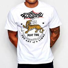 Muay Thai T-Shirt Kickboxing Jiu Jitsu MMA Judo UFC Military Martial Arts III