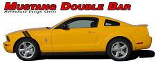 2005-2009 Mustang DOUBLE BAR Hood Fender Hash Mark Stripe Vinyl Graphic Decal