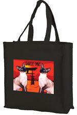 Siamese CATS Cotone Shopping Bag-Scelta di Colori: Nero, Crema