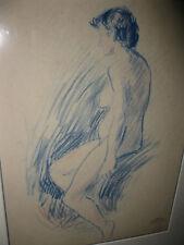 LEMMEN Georges, *1865 Mädchenakt in Blau
