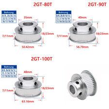 2GT Zahnrad 80T-100T Zähne Riemenscheibe Pulley für 6mm 10mm Breite Zahnriemen