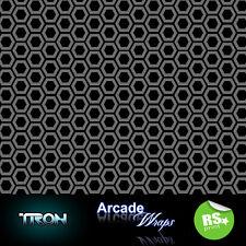 Tron  HEX PATTERN Arcade Machine Wrap sticker Retro Game Theme large Sizes