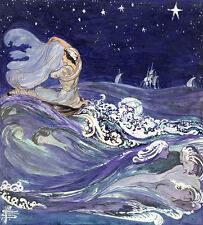"Pamela Colman Smith : ""Sea Creatures"" (c.1907) — Giclee Fine Art Print ; occult"