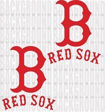 "2 Boston Red Sox Cornhole Decals LARGE 11x13"" Bean Bag Toss Sticker Baggo"