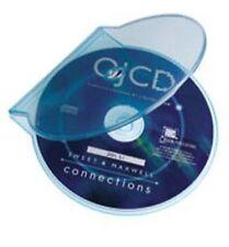 Clear Blue Clam Shell in plastica di alta qualità Custodia Singola CD DVD di archiviazione su disco