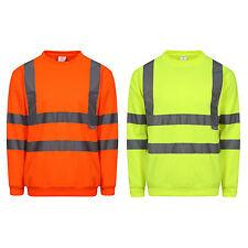 Hi Vis Sichtbarkeit Orange-gelb Arbeits Sweatshirt Top Bauarbeiter Road arbeiter