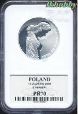 Poland 2008 silver 10 zl Zbigniew Herbert  PR70