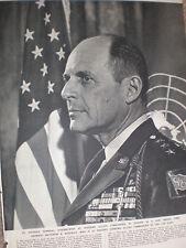 Photo article new Allied Commander Europe General Matthew B Ridgway 1952