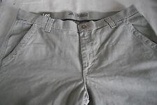 Lee Premium Durabilt 100% Cotton Khaki Beiges Relaxed Fit Pants Sz 40/30 NWT