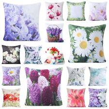Dekorative Kissenbezüge Dekokissen Kissenhülle Blumen 45x45 Blumenmuster Bunt