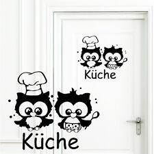 10704 Wandtattoo Loft Aufkleber Türaufkleber Türschild Eulen Köche Küche Essen