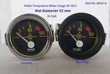 24V VINTAGE CAR Geep 52mm Dial Water Temperature 40-120C meter Gauge (M616-A)