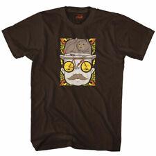 "Cinelli ""Mr Cat Hat"" Cotton Bicycle T-Shirt - Jeremy Fish Artist Design - BLACK"