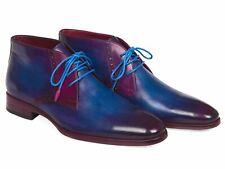 Paul Parkman Handmade Men's Chukka Boots Blue & Purple (ID#CK55U7)