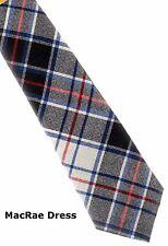 Tartan Tie Clan MacRae OR Pocket Square Scottish Wool Plaid